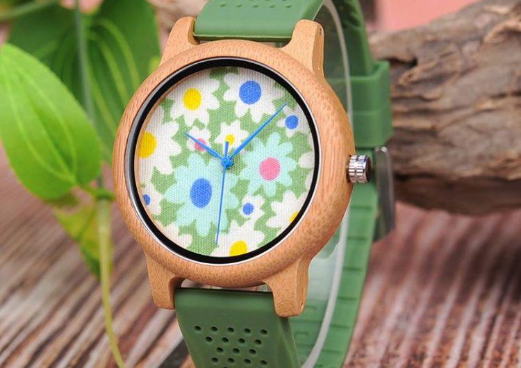 Спечелете дървен дамски часовник