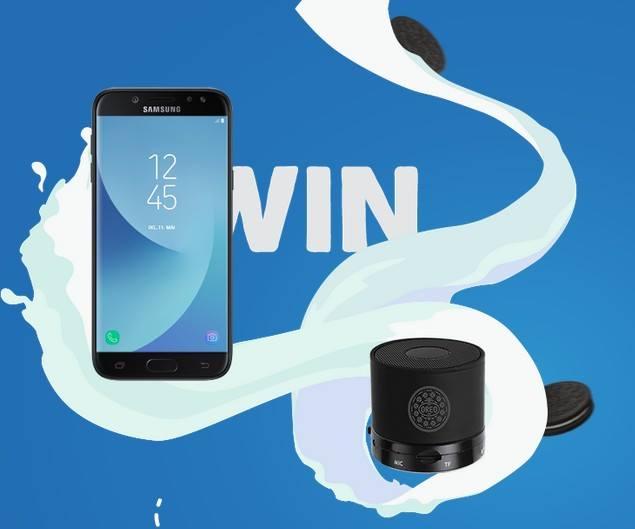 Спечелете Samsung J7 и Bluetooth® compatible speaker от Oreo