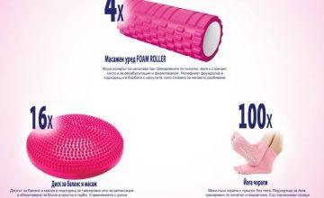 Спечелете уреди за масаж, дискове за баланс и йога чорапи от Libresse