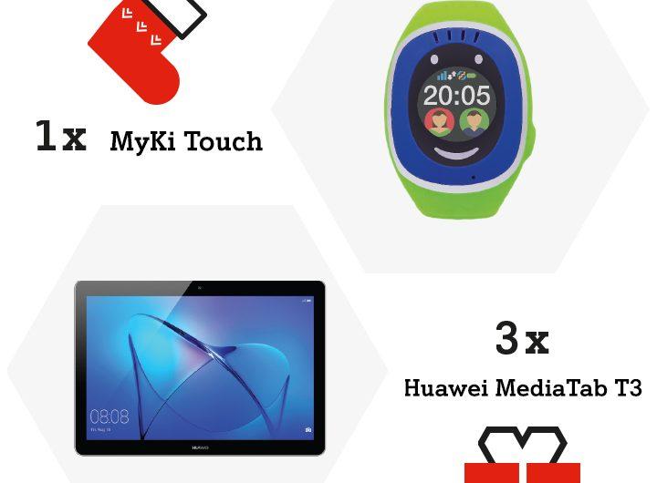 Спечелете три таблета Huawei MediaPad T3 и часовник MyKi Touch