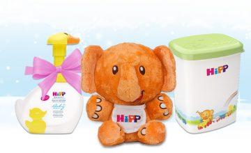 Спечелете всеки ден – играчки, продукти и кутии за съхранение HiPP