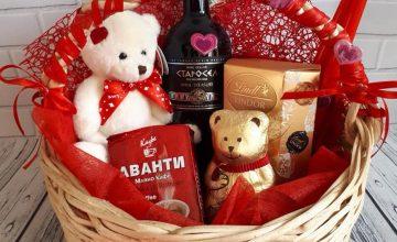 Спечелете кошница с шоколад и вино за 14 февруари