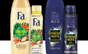 Спечелете 4 козметични комплекта с продукти Fa Brazilian Vibes