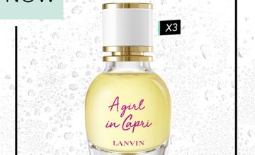 Спечелете новият аромат A GIRL IN CAPRI на LANVIN