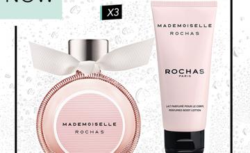 Спечелете новият аромат Mademoiselle Rochas Eau de parfum и лосион за тяло