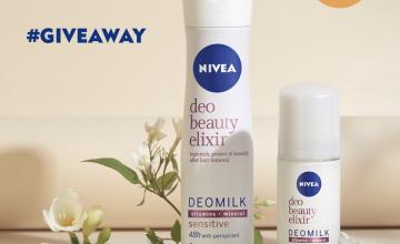 Спечелете 5 комплекта спрей + рол-он от новата серия NIVEA DEOMILK Beauty Elixir Sensitive