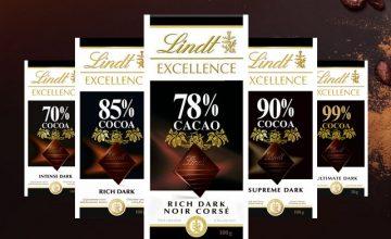 Спечелете 10 комплекта шоколади Lindt Excellence