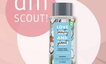 Спечелете 50 шампоана Love Beauty & Planet с кокосова вода и цвят от мимоза,
