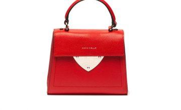 Спечелете дамска кожена чанта с метална апликация на COCCINELLE