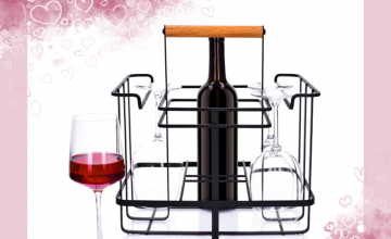 Спечелете стойка за вино и чаши DUKA