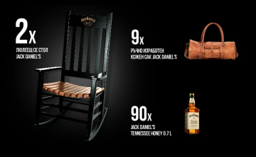 Спечелете 2 люлеещи се стола, 9 ръчно изработени кожени сака и 90 бутилки уиски Jack Daniel's