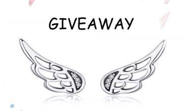 Спечелете сребърни обици Wings с цирконий