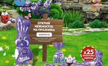 Спечелете 100 великденски комплекта от Milka