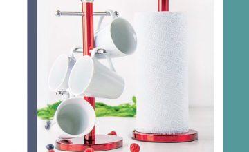 Спечелете комплект поставка за чаши и държач за кухненска ролка