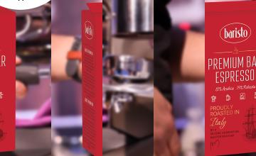 Спечелете три пакета кафе Baristo Premium Bar