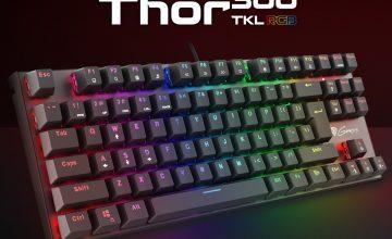 Спечелете най-нова TKL RGB гейминг клавиатура Thor 300 с механични Outemu суичове и RGB подсветка с 25 режима