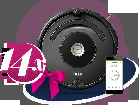 Спечелете 14 прахосмукачки робот  Roomba 676 с WI-FI управление