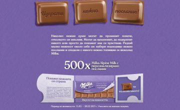 Спечелете 500 подаръчни пакета с шоколад и магнит от Milka