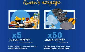 Спечелете ваучери за закуска, сандвичмейкъри, тигани и комплект чинии от Queen's