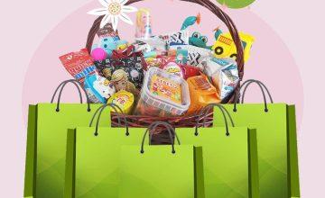 Спечелете кошница с лакомства и 5 чанти с подаръци-изненади