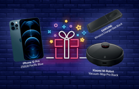 Спечелете iPhone 12 Pro, прахосмукачка робот XIAOMI Mi Robot Vacuum-Mop Pro и SAMSUNG Wireless Charger