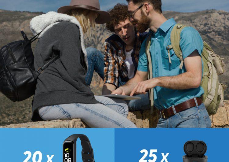 Спечелете спортна гривна Samsung Galaxy Fit2 или безжични слушалки Philips TAT2205 BT TWS